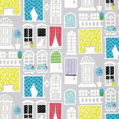 Dolls House - Dove fabric, from the Around The World collection by Designers Guild