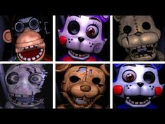 Five Nights at Freddy's 2: Slender Fortress 2 - All Jumpscares (3D) - YouTube