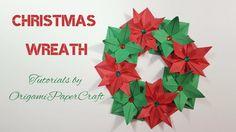 Origami: Christmas Wreath || OrigamiPaperCraft || Christmas Decoration
