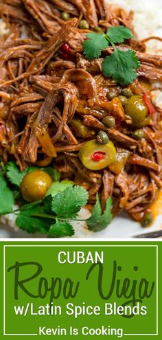 Cuban Ropa Vieja Recipe (Without Slow Cooker) - Kevin Is Cooking - Cuban Ropa Vieja – Kevin Is Cooking - Meat Recipes, Mexican Food Recipes, Crockpot Recipes, Dinner Recipes, Cooking Recipes, Ethnic Recipes, Latin Food Recipes, Water Recipes, Grilling Recipes