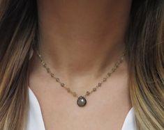 Minimalist and Dainty Layered Necklaces and Jewlery by LandonLacey Jewlery, Jewelry Necklaces, Delicate Gold Necklace, Bridal Jewelry, Chokers, Quartz, Minimalist, Gemstones, Chain