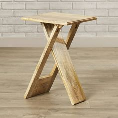 Orren Ellis Boysen Folding End Table & Reviews | Wayfair Folding Furniture, Cool Furniture, Folding Table Diy, Diy Table Legs, Inexpensive Furniture, Small Tables, End Tables, Deco Marine, Side Table With Storage
