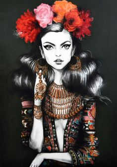Pippa McManus - the girl looks kinda gypsy to me ;) Love the artist's style!