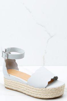 6fca685f5e6 Trendy Grey Sandals - Espadrille Platform Sandals - Sandals -  36.00 – Red  Dress Tan Platform