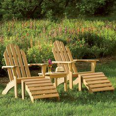 Oxford Hamptons Set (Natural), Beige, Size 5-Piece Sets, Patio Furniture (Wood)