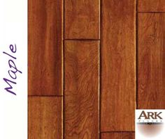 Maple Prefinished Engineered Hand Scraped hardwood floors by ARK Floors.  Finish Shown: BUTTERSCOTCH  www.shop4floors.com