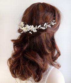 bridal hair vine bridal hair piece wedding by thehoneycomb on Etsy