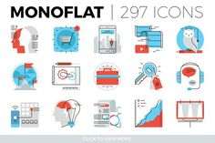 Monoflat Icons Collection by Bloomicon on @creativemarket