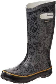 Kiddy Cars Black Multi All Sizes Bogs Baby Kids Boots Wellies
