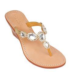 b8cde19a277bf Abu Dhabi - Women s Gold Jeweled Wedge Sandals