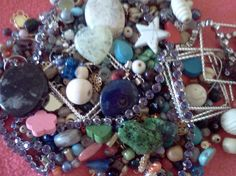 free s mix, findings, gemstones- 1 pound of great stuff