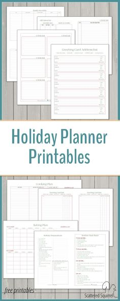 The holiday planner printables are a great way to get organized for the holidays.
