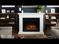 Portable Fireplaces With Grey Walls   Master Sitting Area ...