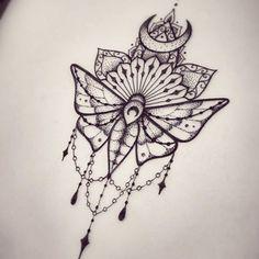 ... with lace and mandala decorations tattoo design - Tattooimages.biz
