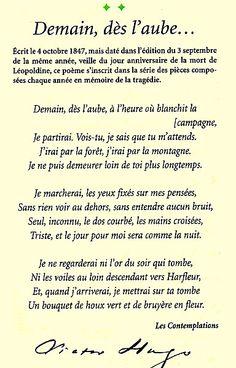 Mon poème favori de Victor Hugo.