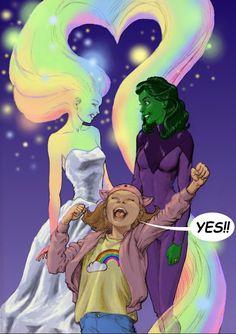 Superheroes Celebrate Marriage Equality  July 5, 2015