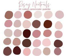 Blush Color Palette, Palette Art, Pink Color Palettes, Neutral Palette, To Do Planner, Color Psychology, Aesthetic Colors, Color Swatches, Paint Swatches