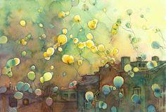 Balloons by kalinatoneva.deviantart.com on @deviantART