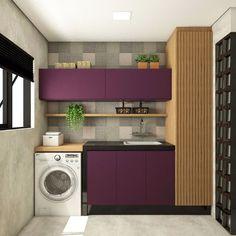 Nenhuma descrição de foto disponível. Laundry Room Wall Decor, Laundry Room Design, Laundry In Bathroom, Dream Home Design, House Design, Pooja Room Design, Pooja Rooms, Small Apartments, Home Kitchens