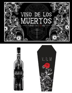 Wine Package Design- Vino De Los Muertos by Amanda Chavez, via Behance
