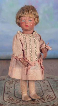 Images: 213 American Wooden Walking Doll by Schoenhut