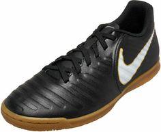 a71f5d5d0 Nike TiempoX Rio IV indoor soccer shoe in black! Buy it from www.soccerpro
