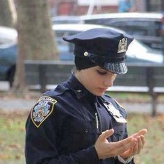 Muslim police woman