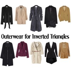 Outerwear for Inverted Triangles-AW by kittyfantastica on Polyvore featuring Yves Saint Laurent, Lela Rose, Elizabeth and James, Alexander McQueen, Vanessa Bruno, STELLA McCARTNEY and See by Chloé