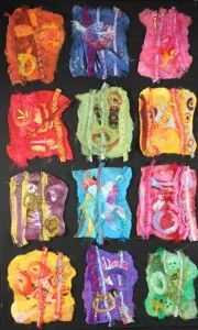 felted mini compositions -  sort of like inchies