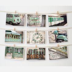 Paris Postcard Collection Green