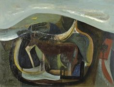 Peter Lanyon (1918–1964), The Yellow Runner, 1946, Oil on board, 44.5 x 58.5 cm