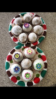 Spring 2013. First attempt at powdered sugar covered cake balls. Lemon flavored cake
