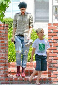 Gwen Stefani and Kingston.