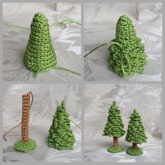 Imagem relacionada - Handarbeit - Her Crochet Crochet Christmas Decorations, Crochet Christmas Ornaments, Christmas Crochet Patterns, Holiday Crochet, Christmas Knitting, Christmas Crafts, Christmas Ideas, Crochet Tree, Crochet Flowers