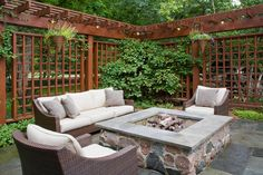 Love the pergola/privacy Woodcreek Ct. Burr Ridge, IL. - traditional - patio - chicago - Rolling Landscapes Inc.