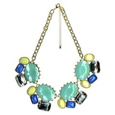 Statement Necklace - Silver/Blue : Target Mobile