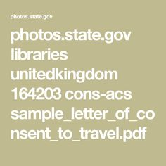 libraries unitedkingdom cons sample letter consent travel