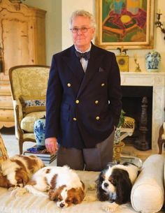 Charles Faudree with his dogs.