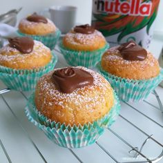 Nutella Muffins, Mini Muffins, Nutella Light, Bourbon Drinks, Home Brewing Beer, Gorgeous Cakes, Bakery, Food Porn, Good Food