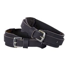 Perris Leather Velcro Garter Straps