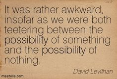 everyday david levithan quote - Google Search
