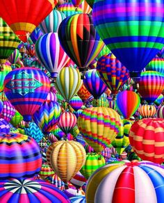 Hot air balloons, posted via mainepuzzles.com