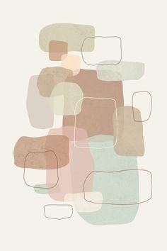 Modern Pastel Abstract Art Print - One Abstract Iphone Wallpaper, Halloween Wallpaper Iphone, Iphone Background Wallpaper, Cute Patterns Wallpaper, Aesthetic Pastel Wallpaper, Aesthetic Wallpapers, Minimalist Wallpaper, Minimalist Art, Whats Wallpaper