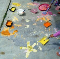 let the children play: potions as art, or art as potions part 3. sidewalk paint with edicol powdered dye