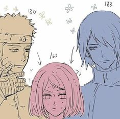 Find images and videos about naruto, sakura and sasuke on We Heart It - the app to get lost in what you love. Naruto And Sasuke, Sasuke Sakura Sarada, Naruto Cute, Naruto And Hinata, Naruto Shippuden Anime, Anime Naruto, Anime Toon, Manga Anime, Comic Naruto