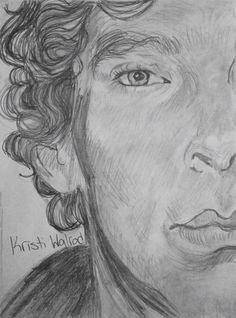 Sherlock Holmes, pencil sketch