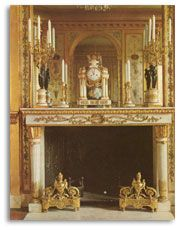 fireplace in private boudoir of MA