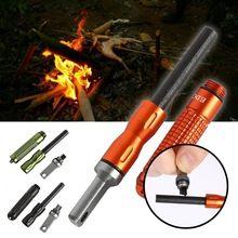 Waterproof Magnesium CNC Alloy Fire starter Flint Stone Pocket Outdoor Flintstone Fire Lighter Tool Hike Camp Survive Kits