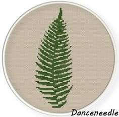 INSTANT DOWNLOAD,Free shipping,Cross stitch pattern, Cross-Stitch PDF, pattern design ,fern leaf ,zxxc0824 by danceneedle on Etsy