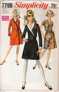 60s Simplicity Sewing Pattern Retro Fashion by AdeleBeeAnnPatterns, $8.00